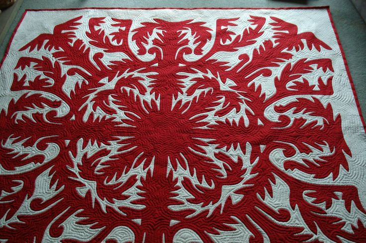 Image detail for -Welsh Quilts: Hawaiian Quilt - Very Nearly Finished