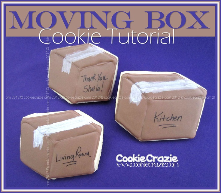 CookieCrazie Moving Box Cookie (Tutorial)  sc 1 st  Pinterest & 7 best UPS images on Pinterest | Custom cookies Iowa and Logo cookies Aboutintivar.Com
