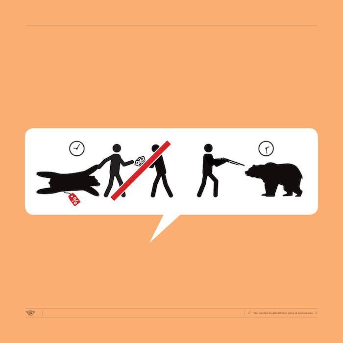 Non vendere la pelle dell'orso prima di averlo uccisio   Proverbi e modi di dire italiani tradotti in disegnini - Il Post