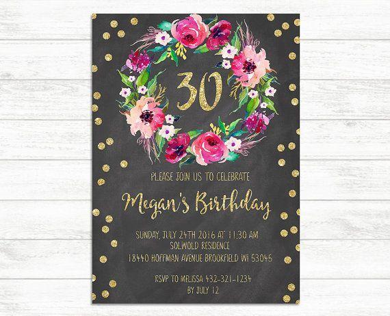 Benutzerdefinierte Einladung Geburtstag 30 Geburtstag Einladung