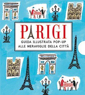 PARIGI POP-UP Mini guida tascabile. Porta lo skyline di Parigi sempre con te, allungabile fino a 1,5 metri. Con i 12 monumenti simbolo della città.