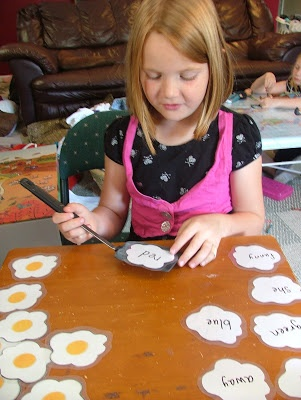 Sight Word Game: Fried Eggs