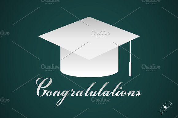 Congratulations graduation cap Templates Congratulations graduation cap Poster Vector Background by essense