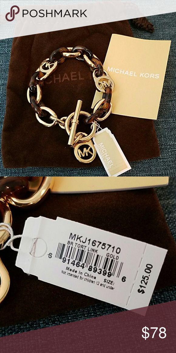 Michael Kors bracelet Michael Kors gold/tortoise link bracelet Michael Kors Jewelry Bracelets