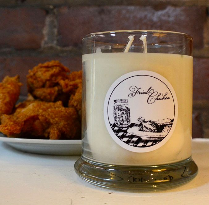 Fried Chicken Scented Candle
