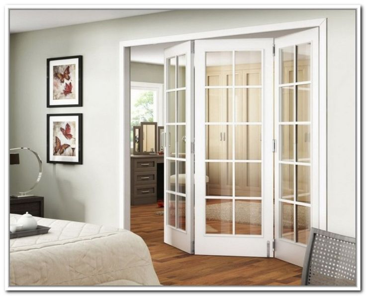 Stylish bifold french doors interior home dining room for Interior exterior french doors