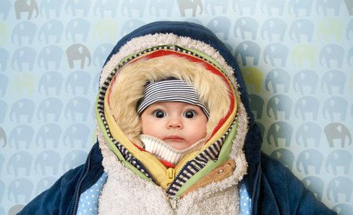 Baby all bundled for the cold