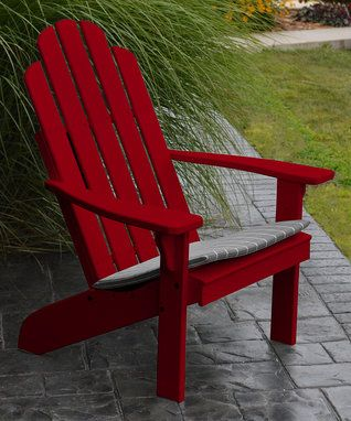 Tractor Red Kennebunkport Pine Adirondack Chair Sitting On The Porch Pinterest
