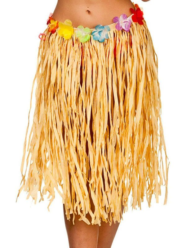 Peeks Hawaiian Authentic Raffia Grass Hula Skirt Fancy Dress Party Costume