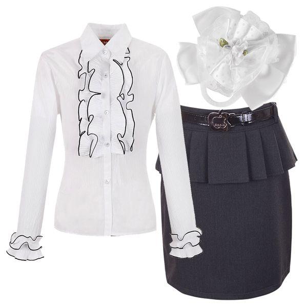 Отличный образ для девочки. Классическое сочетание черного и белого превосходно подходит как для торжественного случая, так и для похода в школу.