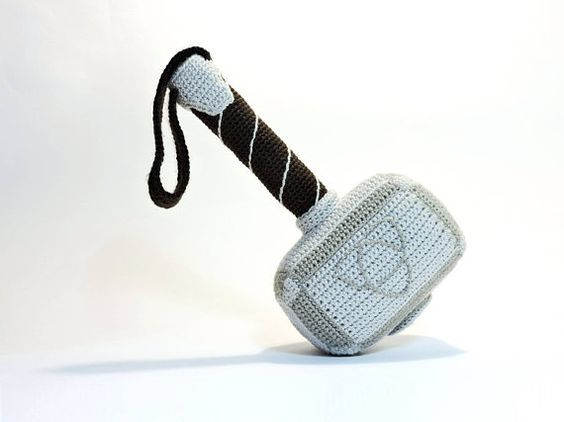 PATTERN: Crochet Hammer of Thor (PDF file), Amigurumi tutorial Hammer, DIY gift for father, Baby Shower Gift, gift for vikings fan