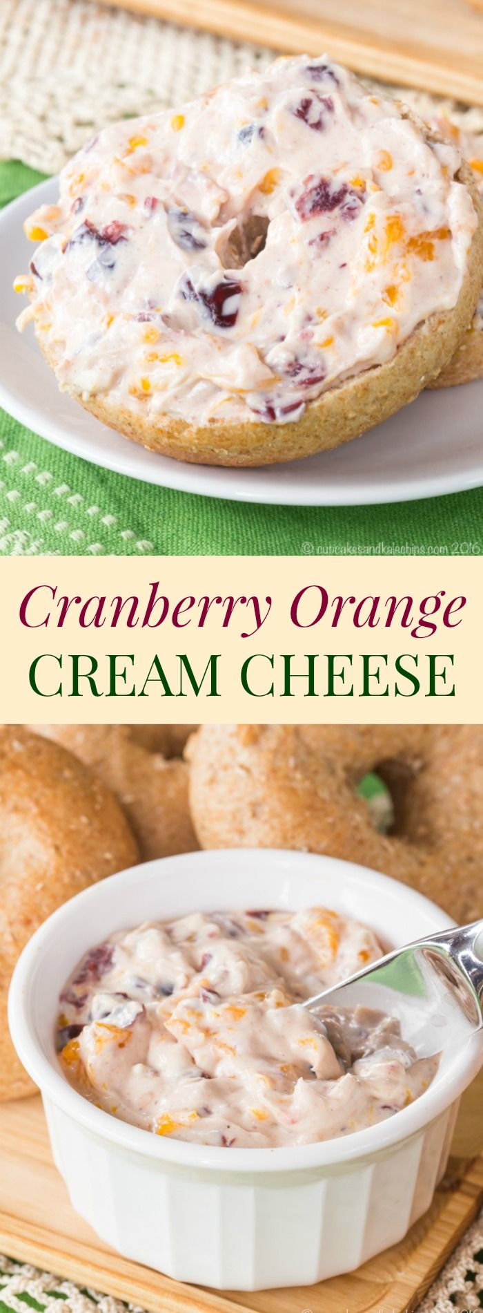 Cranberry Orange Cream Cheese - an easy spread for bagels or graham crackers, dip for apples or pears, or to stuff into dates. Made with @DoleSunshine #ad