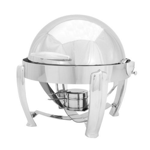 Walco Hallmark Collection Round Full Roll 5 Quart Chafer, Chrome Handles and Legs by Walco. $925.66. Finest hotel quality. Automatic tension control. Opens full 180 degrees. Cover pops off for easy cleaning. Heaviest gauge 18/10 stainless steel. Walco Hallmark Collection full roll round chafers are a staple in the commercial hotel industry. Made from the heaviest gauge 18/10 stainless steel, with chrome accents, the elegant roll top cover opens 180 degrees; the four wide legs tap...