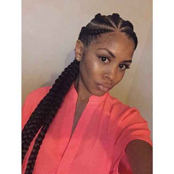 23 Best Images About Big Braid Styles On Pinterest Ghana