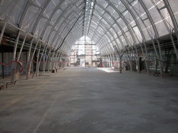 Montpellier Saint-Roch railway station construction - steel structure and ETFE