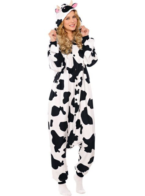 Adult Cow One Piece Pajamas - Party Cityi Really Really -6689