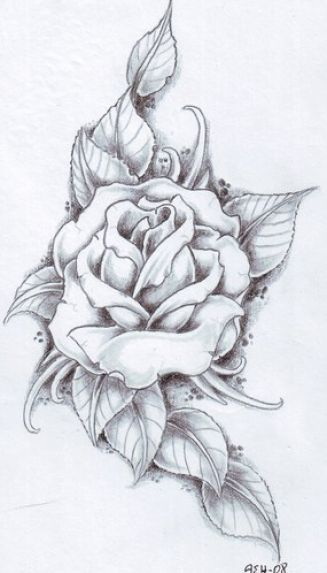 white tattoo pictures   Black and white rose tattoos for women pictures 4