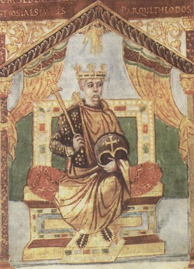 Charles the Bald or Charles II (13 June 823 – 6 October 877), Holy Roman Emperor (875–877) and King of West Francia (840–877), with the borders of his land defined by the Treaty of Verdun, 843, was the youngest son of the Emperor Louis the Pious by his second wife Judith, and grandson of Charlemagne.