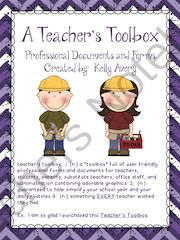 A Teachers Toolbox from Kelly Avery, W. T. Lewis Elementary, Bossier City, Louisiana on TeachersNotebook.com -  (74 pages)  - Behavior Charts, Homework Calendars, Field Trip Forms, Back to School Forms, Registration Day Forms
