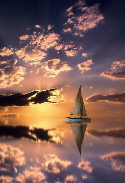 Pin by Beatriz Poncet on Barcas y barcos | Pinterest | Sailing, Sunset and Ocean