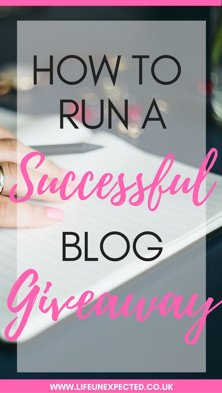 How to run a successful blog giveaway including where to post your blog giveaway for more entrants