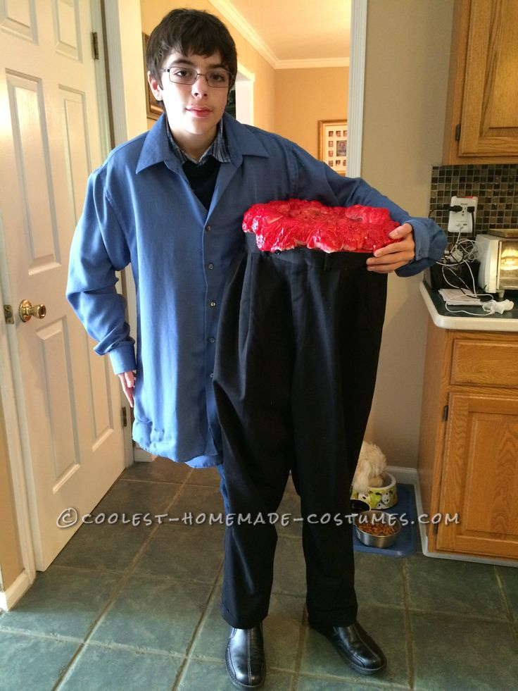Cool Illusion Costume: Half the Man I Used to Be!... Coolest Halloween Costume Contest
