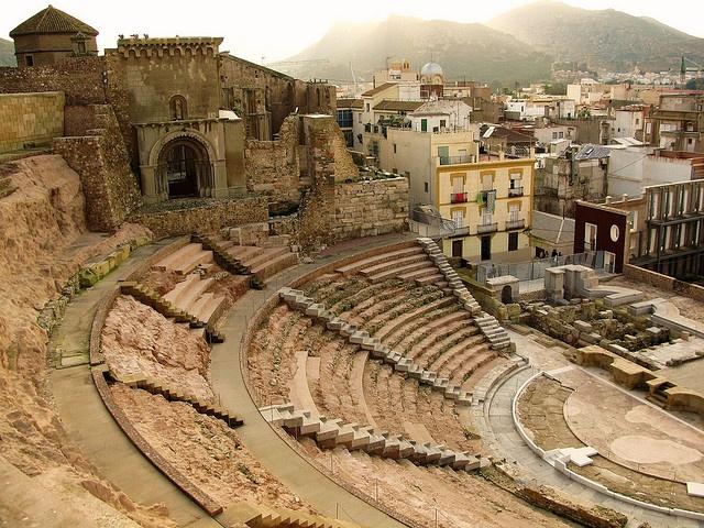 teatro romano de cartagena.Murcia