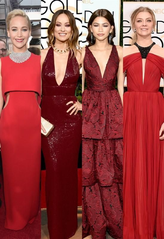 red dress trend - 2016 Golden Globes - What's buzzing at the 2016 Golden Globe Awards