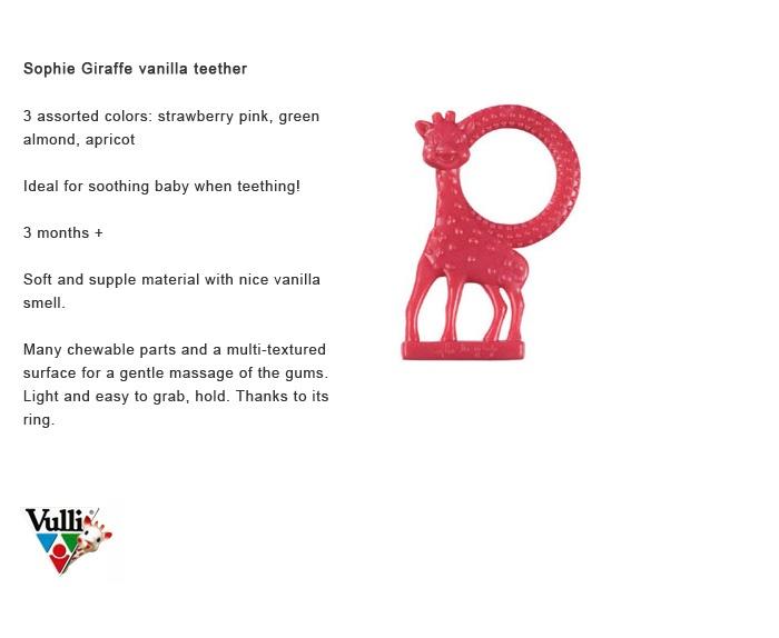 Sophie Giraffe teethers