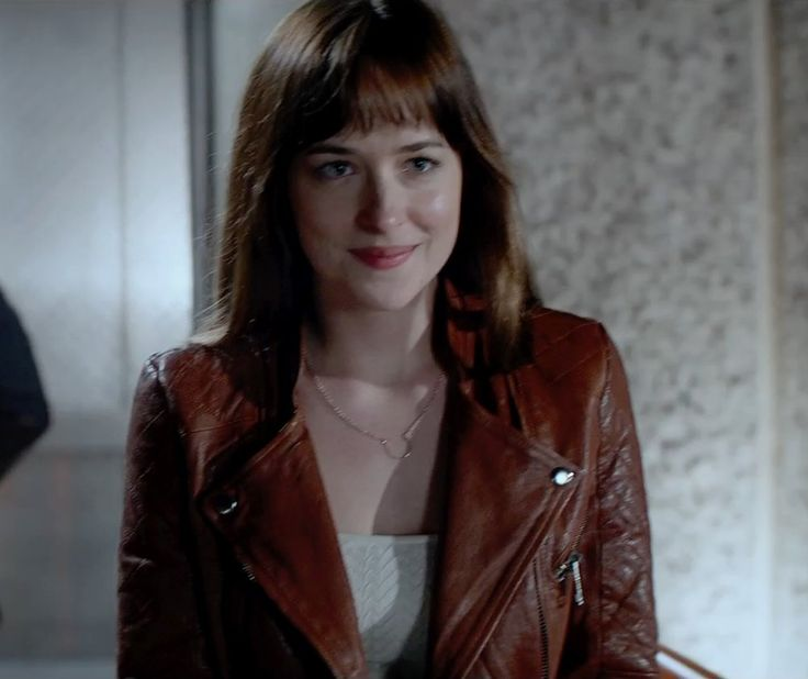 Guess  Asymmetrical Zip Moto Faux Leather Jacket inspired by Anastasia Steele in Fifty Shades of Grey | https://thetake.com/product/41359 | TheTake