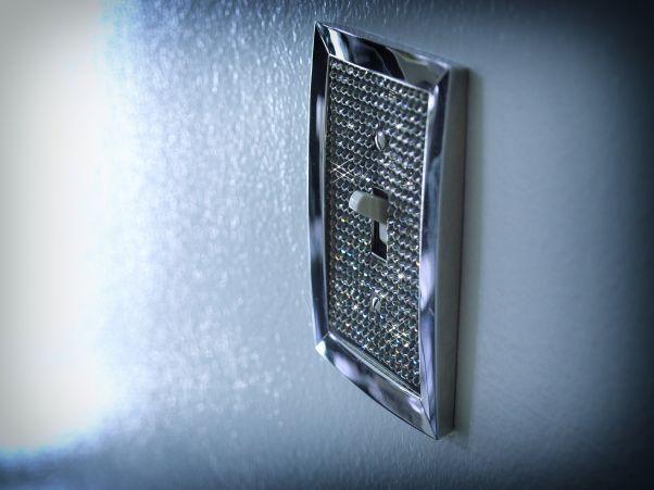 swarovski crystal bedroom | silver white and black bedroom - Bedroom Designs - Decorating Ideas ...