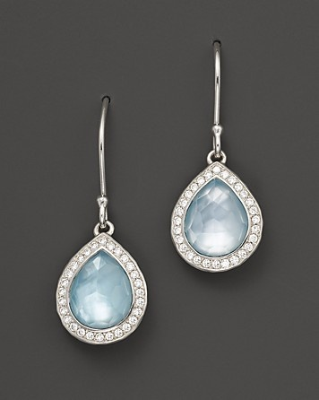 Ippolita Sterling Silver Stella Small Teardrop Earrings in Blue Topaz Mother-of-Pearl with Diamonds | Bloomingdale's #BloomingdalesProm