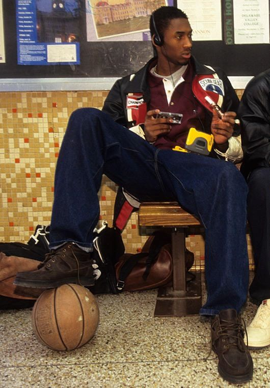 Kobe Bryant in high school with the Walkman.