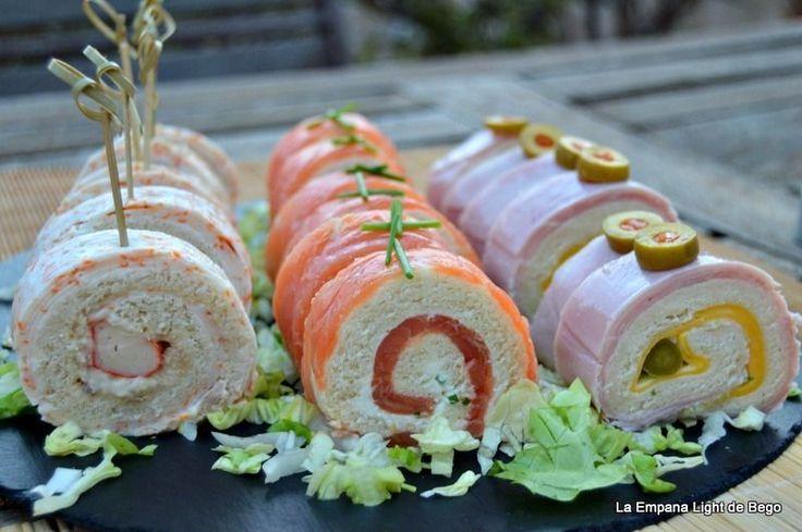 Rollitos de Canapés con Pan de Molde | Comparterecetas.com