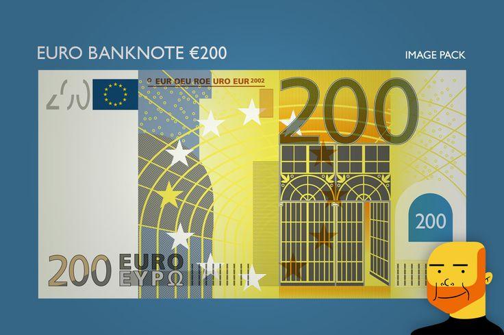 Euro Banknote €200 (Image) by Paulo Buchinho on Creative Market