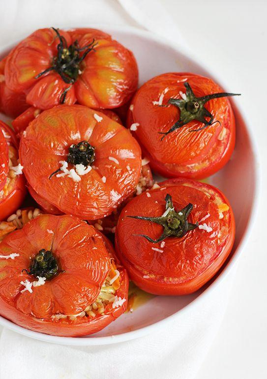 burczymiwbrzuchu: Wtorek z kaszą #20: Pieczone pomidory z pęczakiem ...