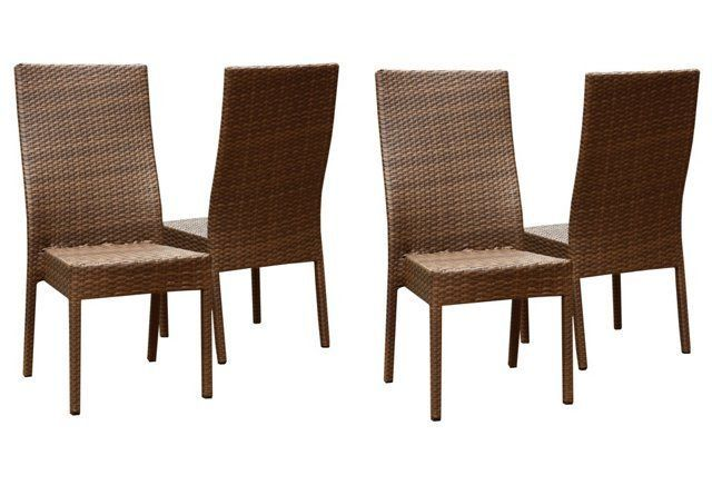 Katya Outdoor Dining Chairs, Set of 4