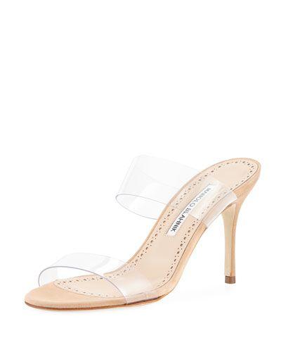 f91dcbe565e MANOLO BLAHNIK SCOLTO PVC TWO-STRAP SANDAL.  manoloblahnik  shoes ...