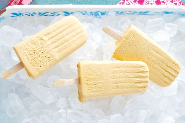 Get creative and try using different-shaped ice-block moulds for these ice-pops.