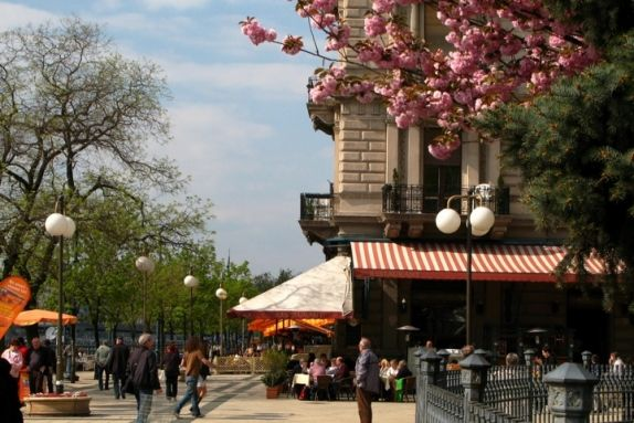 Spring on the Danube Promenade