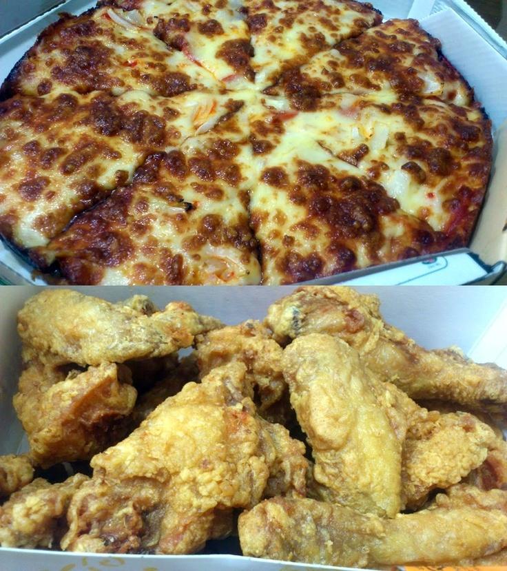 주문하기에는 매우 미안한 날씨지만... 오늘 저녁은 아들내미의 요청에 따라 피자와 치킨!