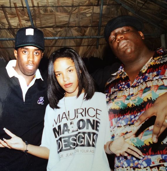 Puff Daddy, Aaliyah and Notorious B.I.G