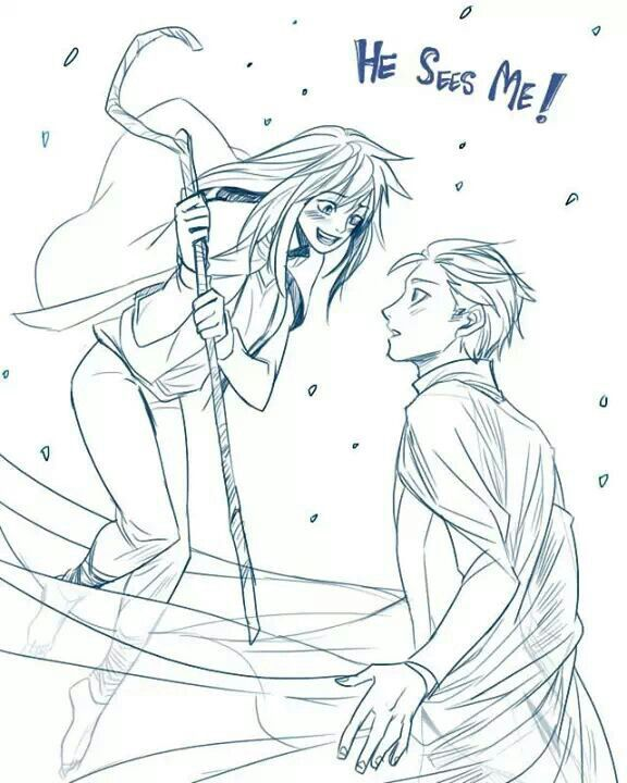 Elsa  jack genderbend. I SHIP THIS SO HARD. jackie frost and elson