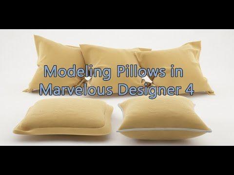Modeling a Pillow in Marvelous Designer - YouTube