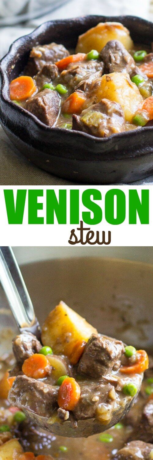 A hearty Venison Stew made right on your stove top. Perfect for the winter months or any time you have venison stew meat on hand.