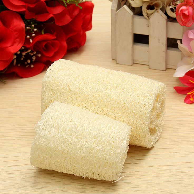 Shower Body Scrubber Brush Natural Fiber Exfoliating Loofah Luffa Bath Sponge Organic Skin Polishing 2 Size