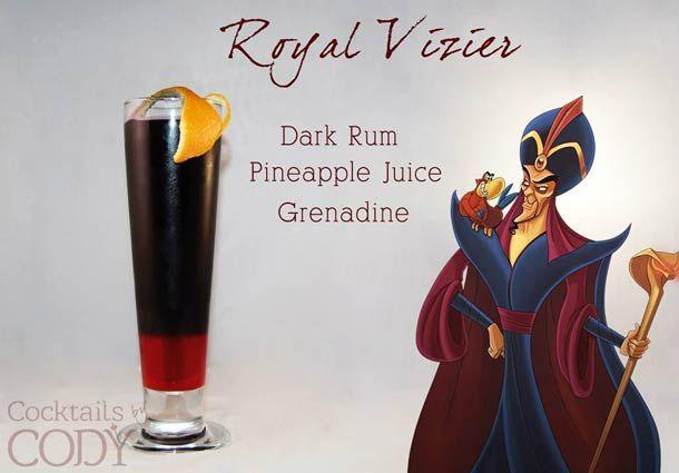 Cocktail Jafar Jus d'ananas, Rhum noir, Grenadine