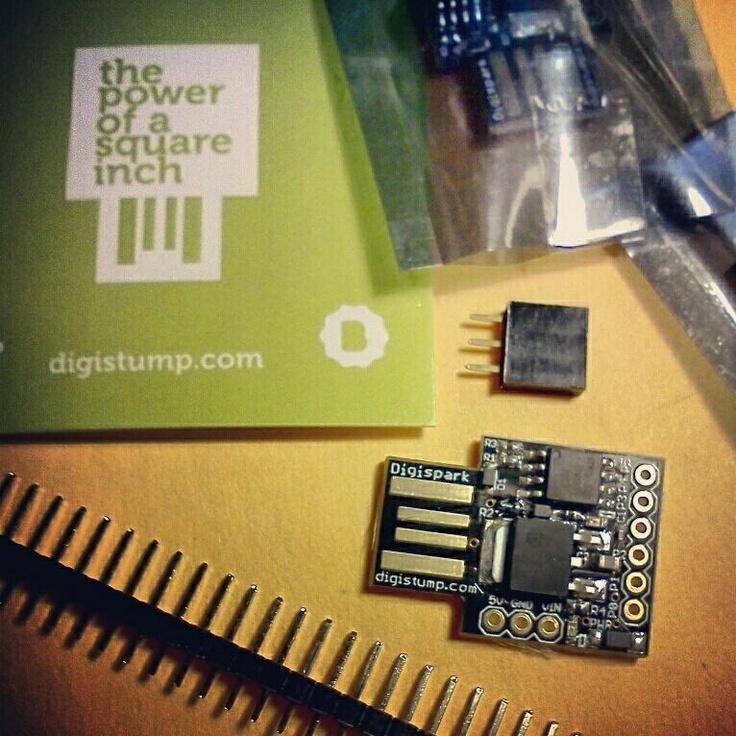 My #digispark micro-sized #arduino usb development boards have finally arrived! Proud to be a @kickstarter backer :)