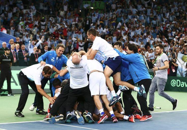 Sieg gegen Kroatien: Argentiniengewinnt Davis Cup - SPIEGEL ONLINE - Sport