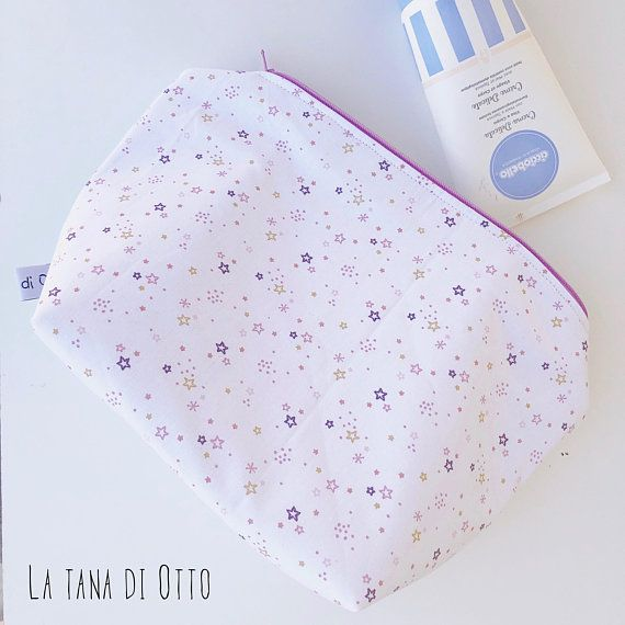 Extra large zipper pouches with stars, zipper pouch, zip pouch, pink stars, star pouch, stars, pink baby bag, diaper bag, baby bag